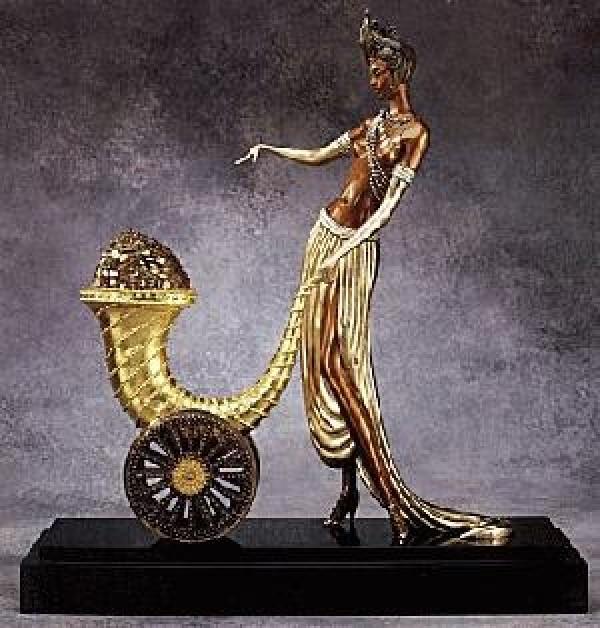 """Cornucopia"" Bronze Sculpture by Erte Wanted"