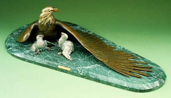 """Heirs to the Sky"" bronze sculpture by Vince Valdez"
