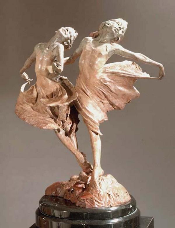 """Sisters"" Bronze Sculpture by Richard MacDonald"