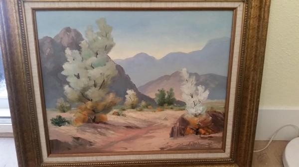 Untitled Desert Landscape Original oil on canvas by Marshall Merritt