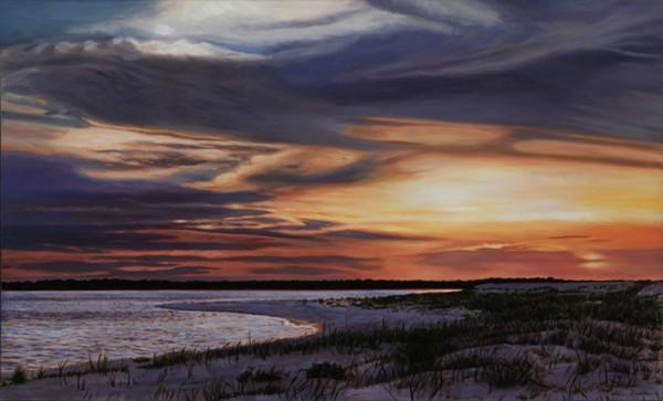 """Coastal Sunset"" Giclee on paper by Adrian Deckbar"