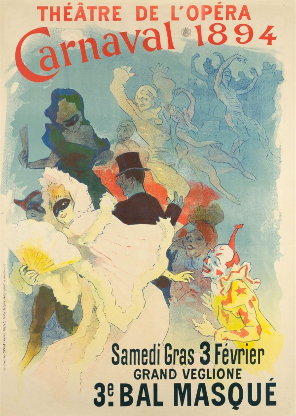 """Theatre de l'Opera Carnaval"" 1894 Lithograph Poster by Jules Cheret"