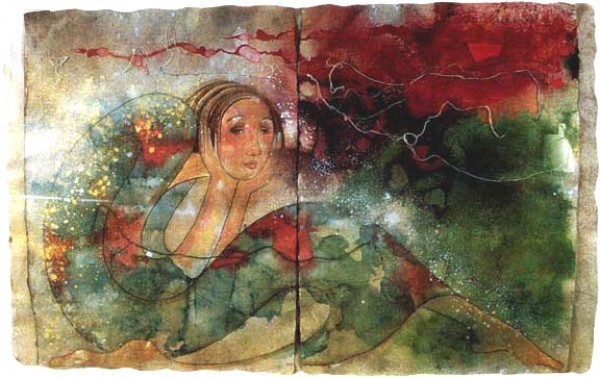 """Candor"" Original Embellished Multiple Print by Orlando AB"
