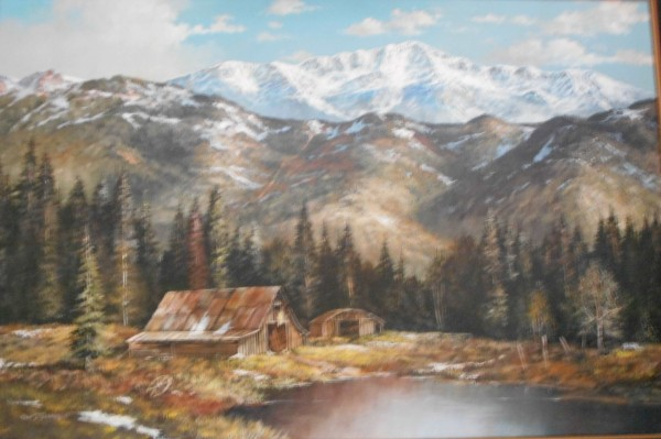 """Western slope of Pikes Peak as viewed from Gold Camp Rd. Colorado"" Original oil on canvas by Tom Dooley"