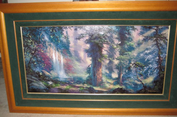 """""""Untitled Wooded Scene"""" Framed Cibachrome by James Coleman"""