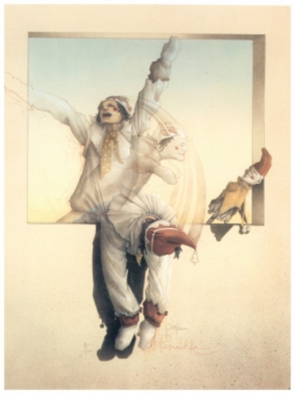 """""""Petrouchka '83"""" Hand Pulled Stone Lithograph by Michael Parkes"""