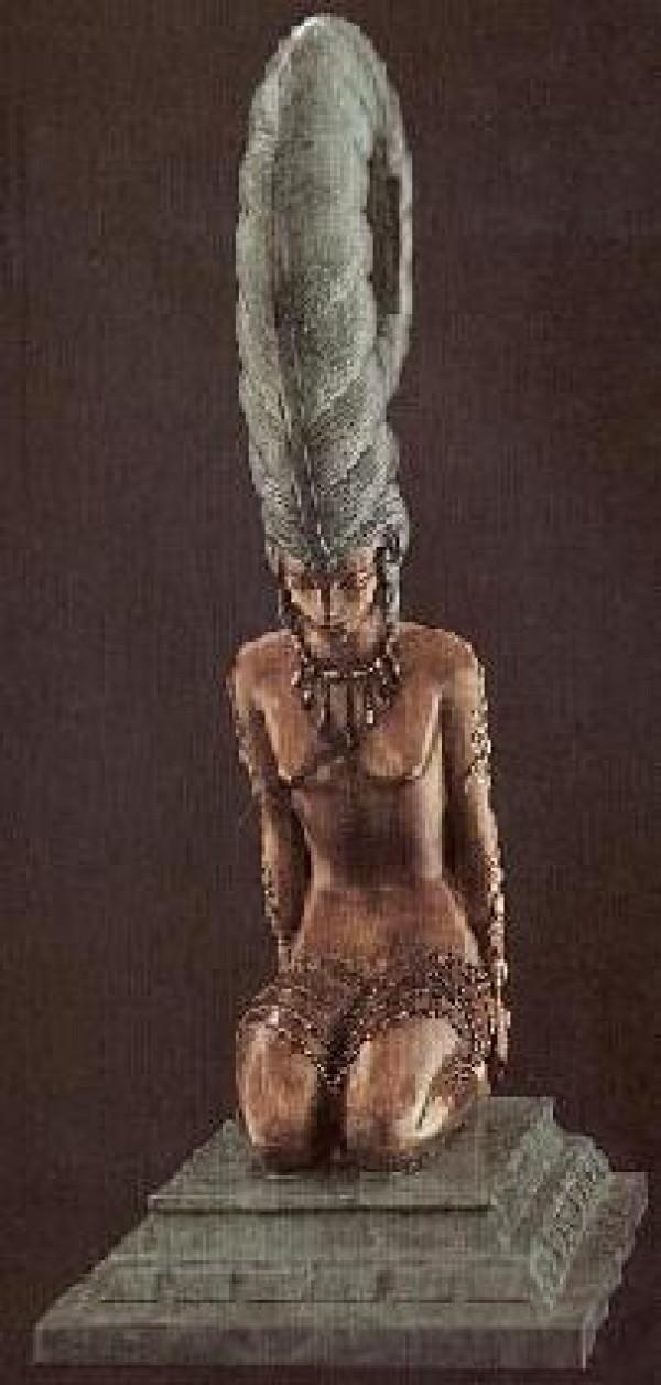 """La Plume"" Bronze Sculpture by Erte"