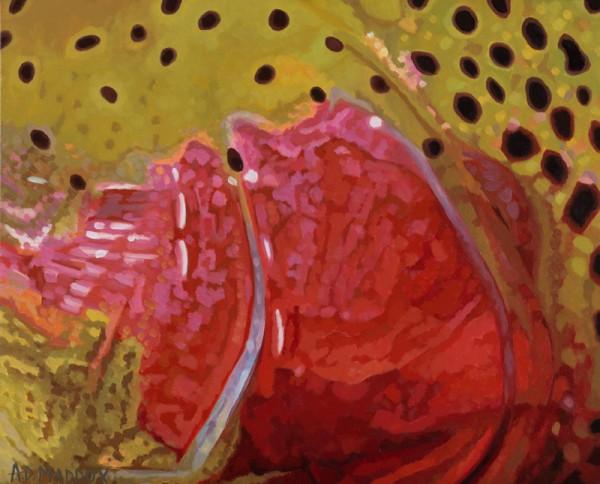 """Rainbow XXII"" Fishing Giclee on Canvas by A D Maddox"