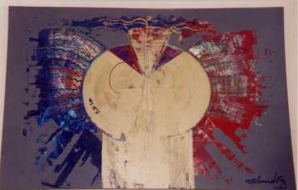 """""""Angel de Mi Guardia"""" Original Oil/Canvas by Orlando, A.B."""