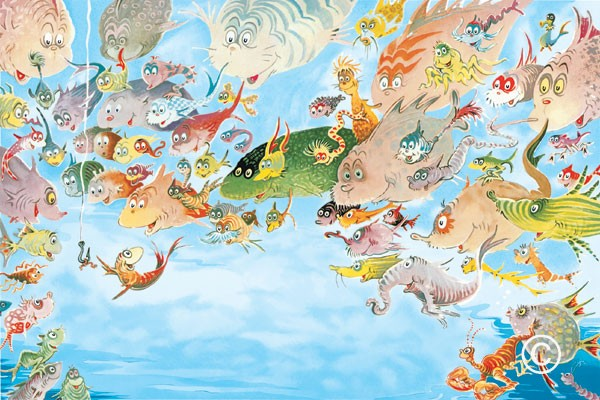 """A Plethora of Fish"" by Dr. Seuss"