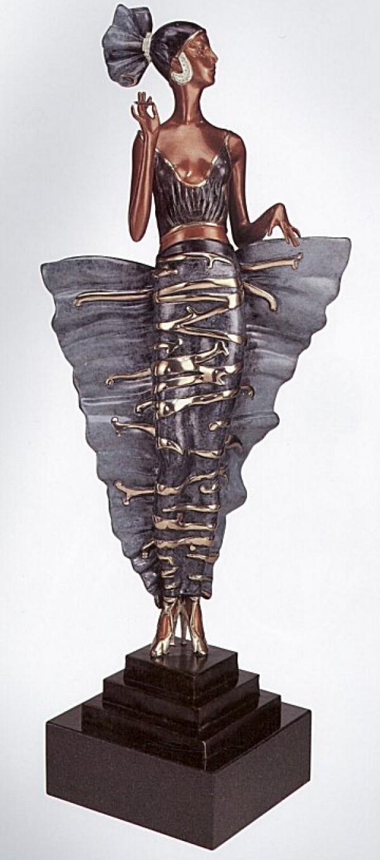 Femme Fatale bronze sculpture by Erte