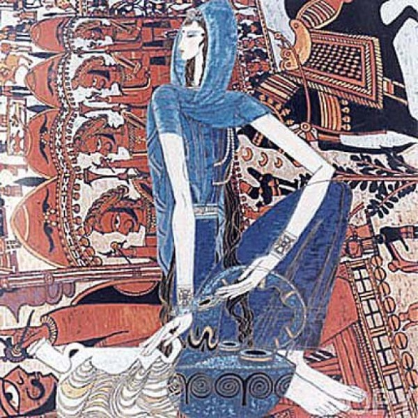 Eastern Song AP Serigraph on Rice Paper by Ting Shao Kuang