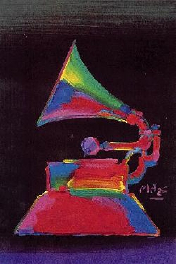 """""""Grammy '89"""" original acrylic on canvas by Peter Max"""
