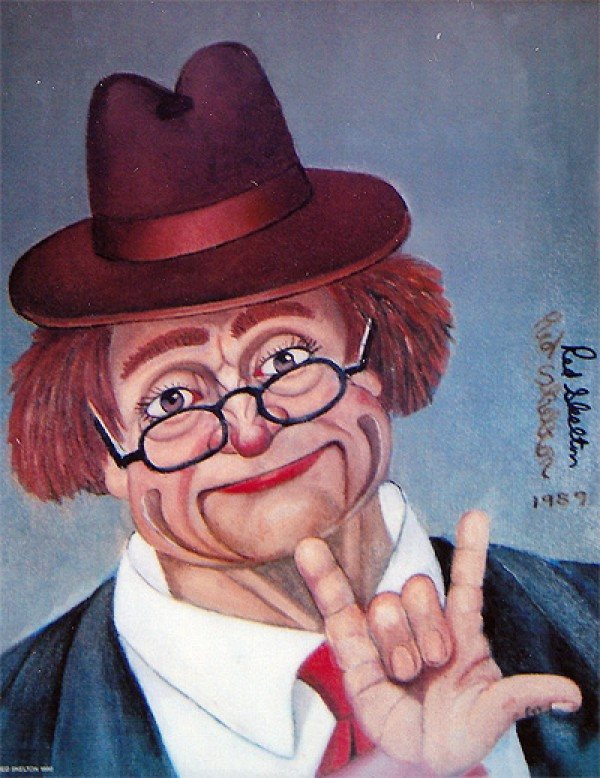 """I Love You"" Serigraph/Canvas by Red Skelton"
