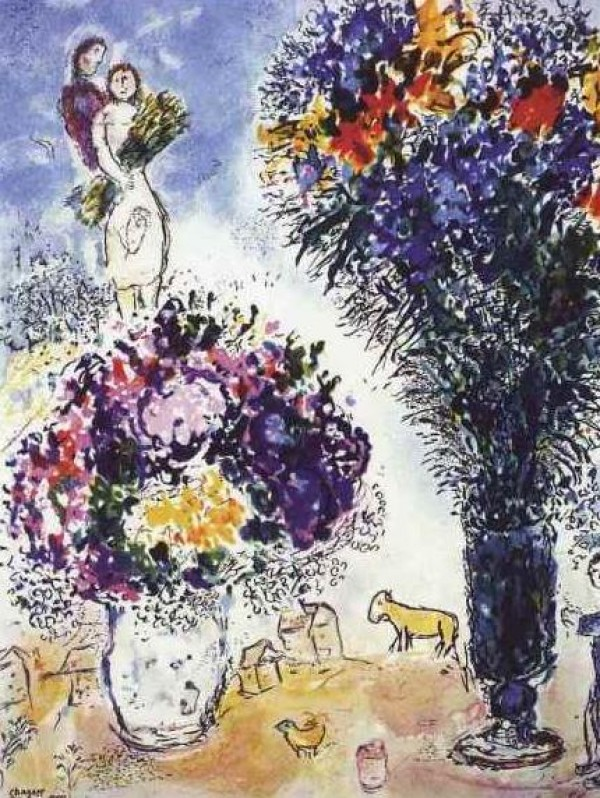 """Le Gerbe de Ble"" Plate-Signed Lithograph by Marc Chagall"