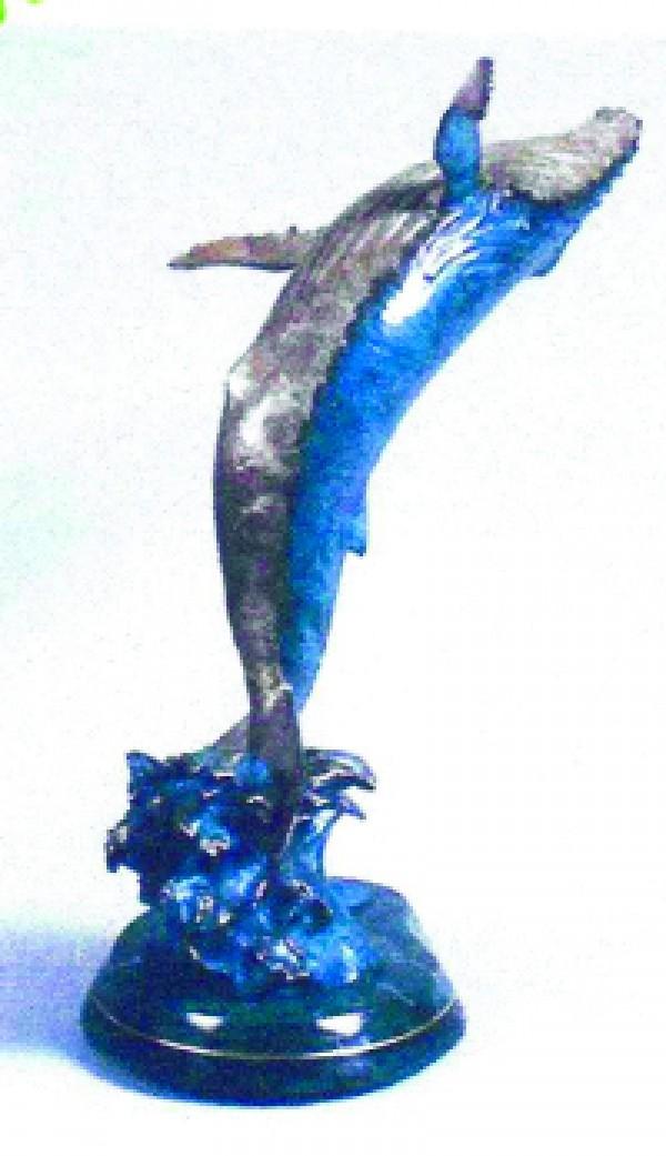 """Lahaina Breach"" Bronze Sculpture by Christian Riese Lassen"