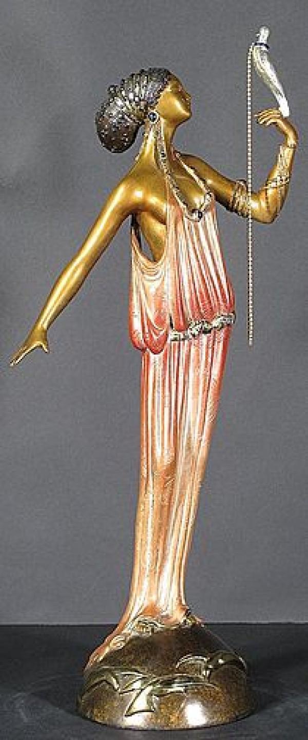 """""""Love Goddess"""" Bronze Sculpture by Erte"""