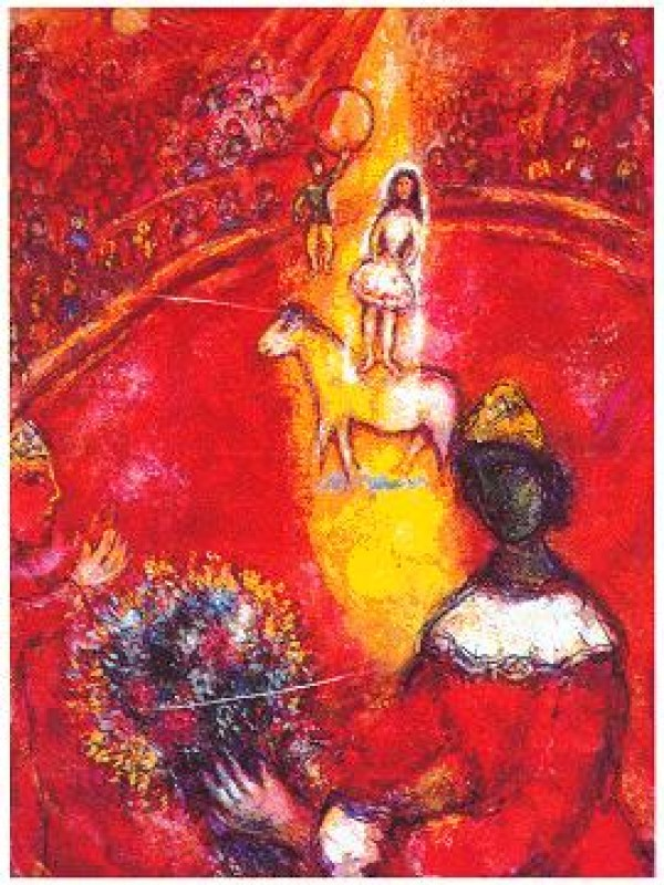 """""""The Circus"""" Plate-Signed Lithograph by Marc Chagall"""