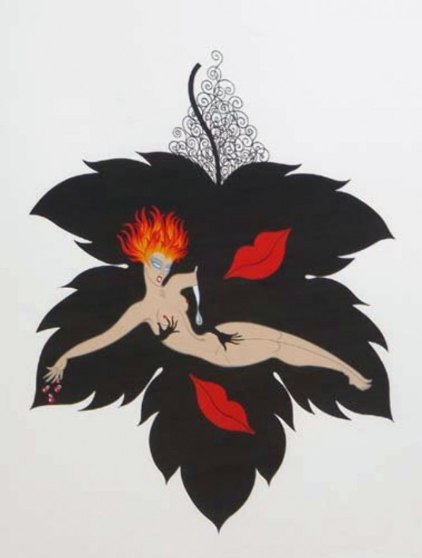 """""""Lust"""" Serigraph from the Seven Deadly Sins Suite by Erte"""