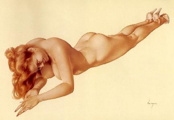 """Legacy Nude #4, """"Exuberance"""" Lithograph/Arches by Alberto Vargas"""