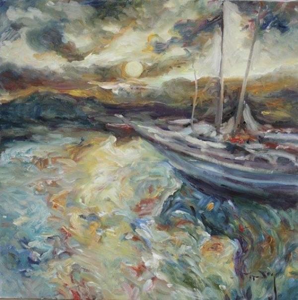 """""""Reflejos"""" Original Oil on Canvas by Royo"""