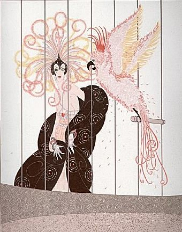 """""""Birdcage"""" Serigraph on Paper by Erte"""
