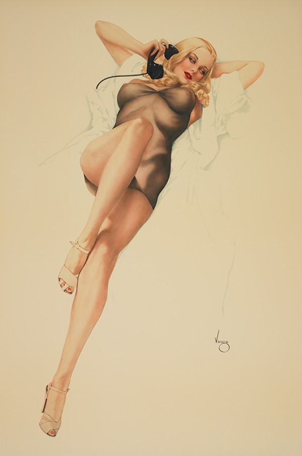 """First Love"" Lithograph on Paper by Alberto Vargas"