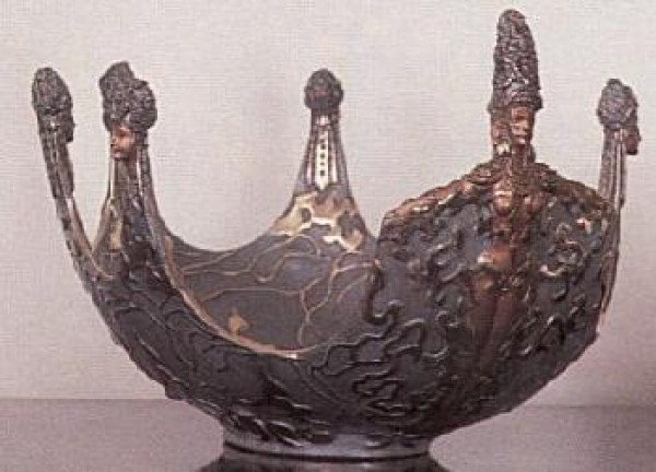 """Ocean Bowl II"" Bronze Object of Art by Erte"