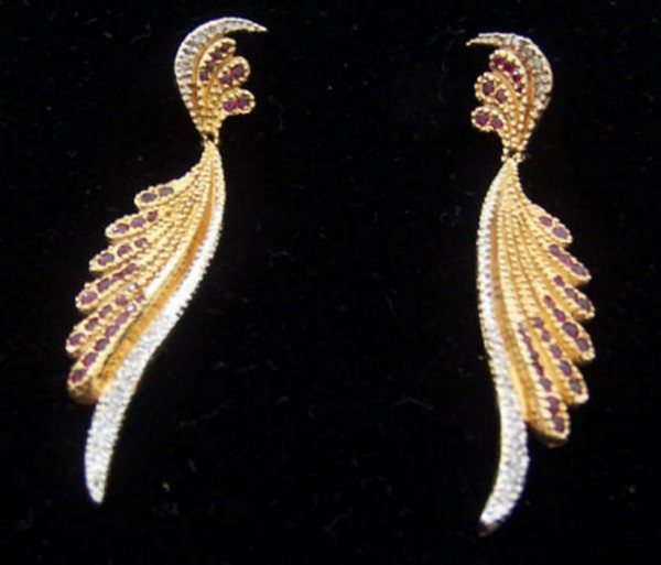 """""""Fantasy Earrings, State I"""" Fine Art To Wear Jewelry by Erte"""