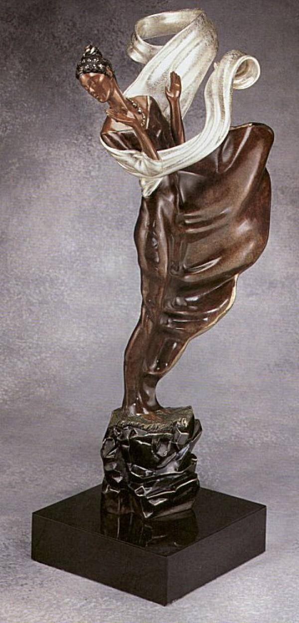 """""""Summer Breeze"""" Bronze Sculpture by Erte"""