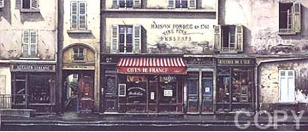 Caves de France Serigraph by Thomas Pradzynski