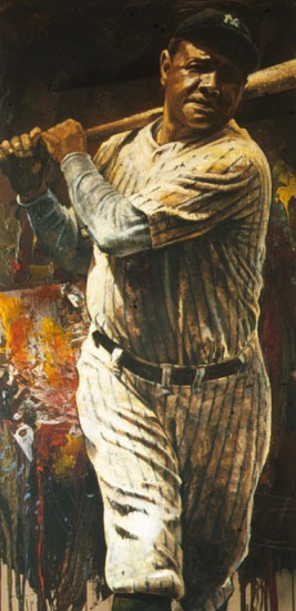 """Babe Ruth"" Giclee on Canvas by Steve Holland Wanted"