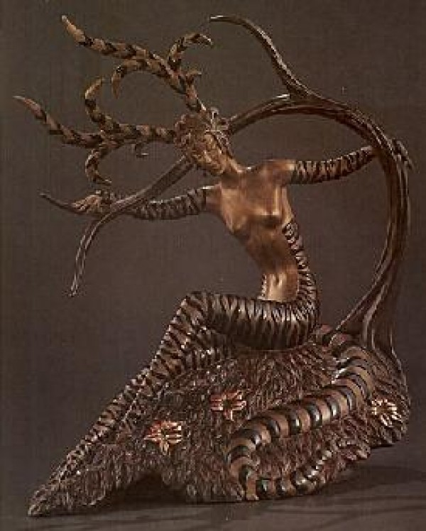 """""""The Hunting"""" Bronze Sculpture by Erte"""