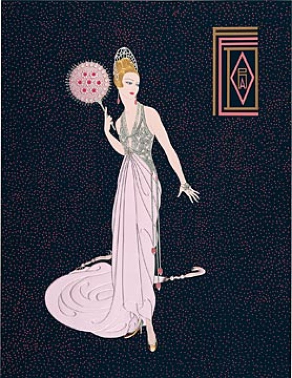 """""""Fedora Fan"""" Estate-Signed Serigraph with Foil Stamping by Erte"""