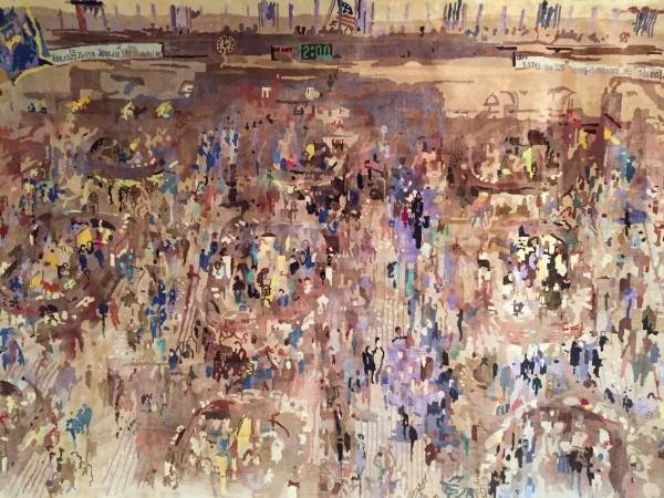 """New York Stock Exchange"" Silk Tapestry by LeRoy Neiman"