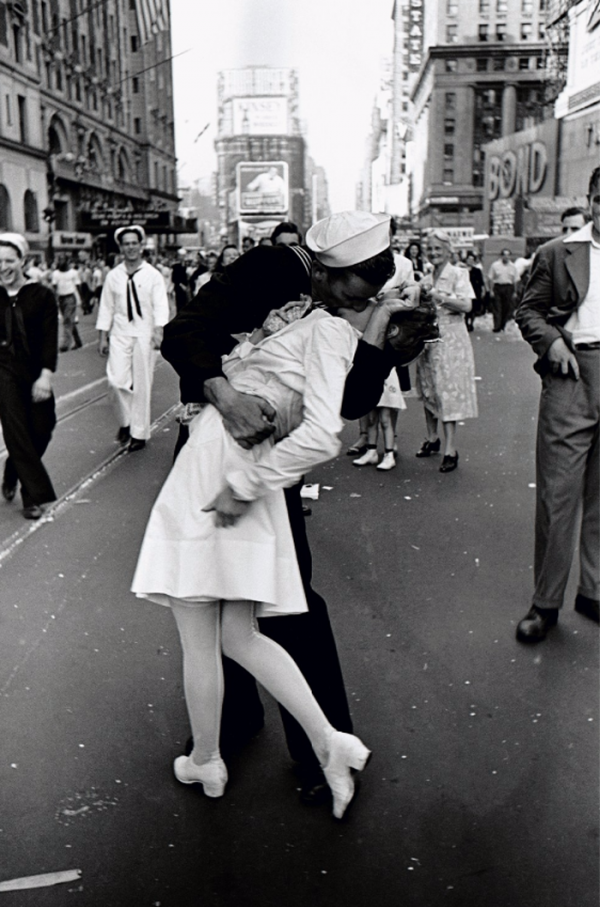"""VJ Day, The Kiss""  Silver Gelatin Photograph by Alfred Eisenstaedt"