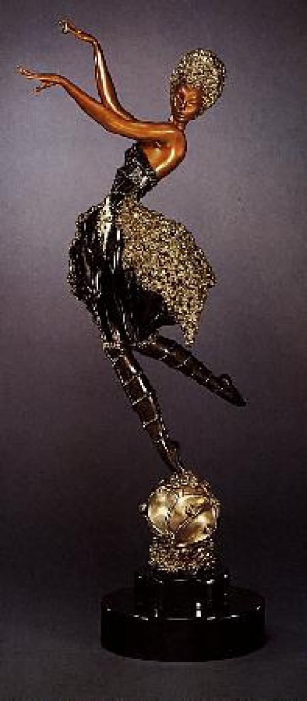 """Rose Dancer"" Bronze Sculpture by Erte"
