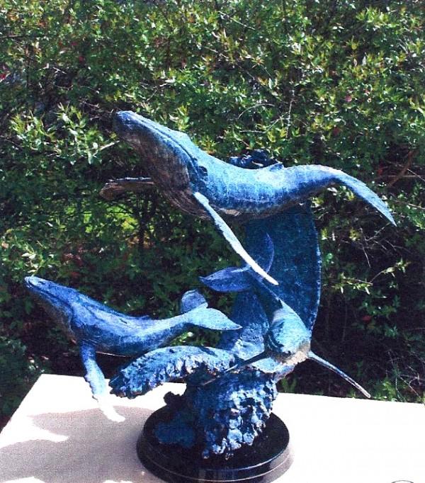 """Maui Glide"" Bronze Sculpture by Christian Riese Lassen"