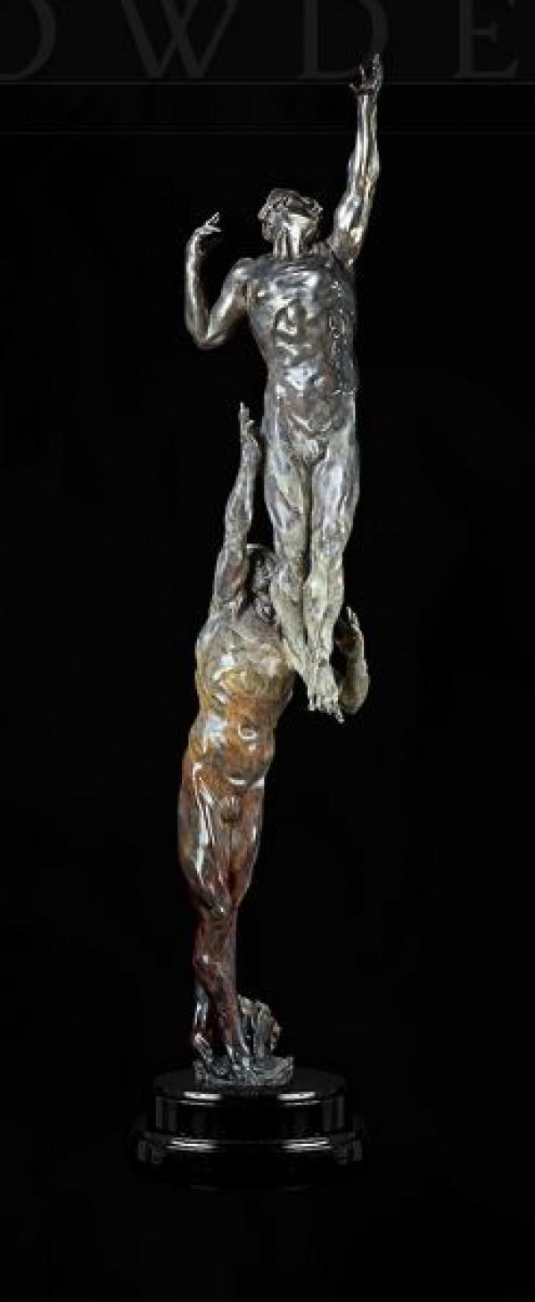 """Seismic Ray"" Bronze Sculpture by M. L. Snowden"