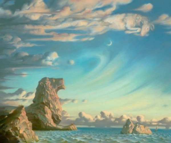"""I Saved My Soul"" Limited Edition Giclee on Canvas by Vladimir Kush"