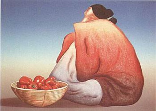 """Red Pepper"" Lithograph by R C Gorman"