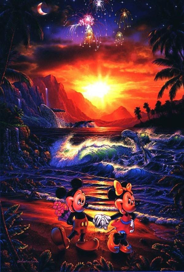 """Seaside Romance"" Aquaprint on Paper by Christian Riese Lassen"