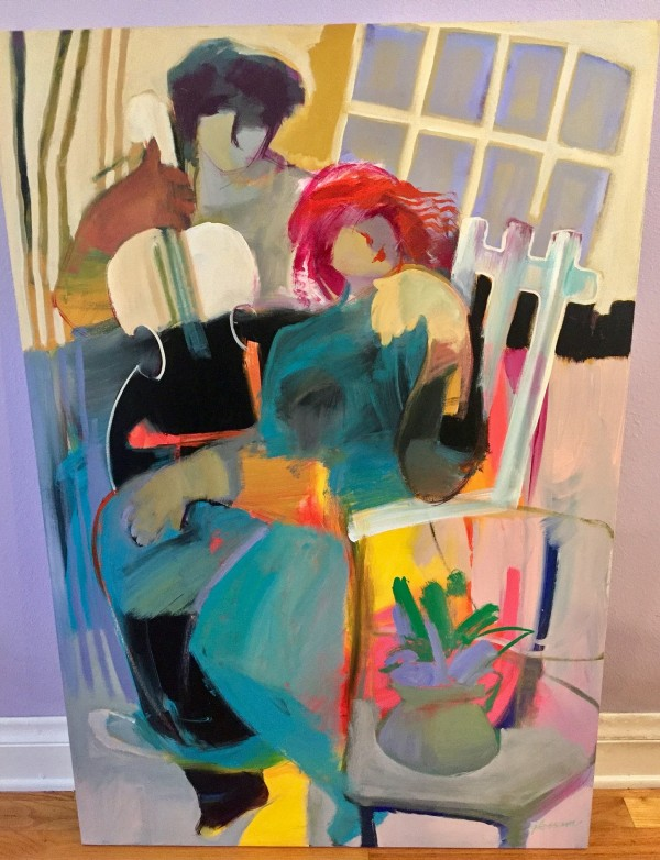 """Summer Reflection"" Original Acrylic on Canvas by Hessam"