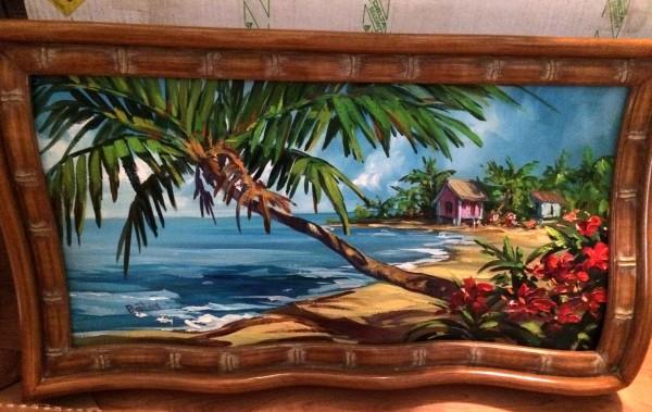 """""""Beach"""" Original oil on canvas painting by Steve Barton"""