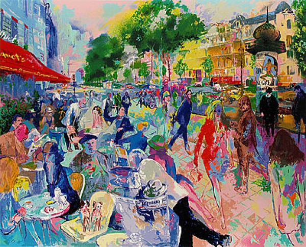 """""""Cafe Fouquets"""" limited edition hand signed Serigraph by LeRoy Neiman Wanted"""