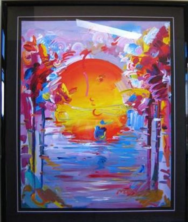 """""""The Better World"""" Unique Acrylic/Serigraph by Peter Max"""