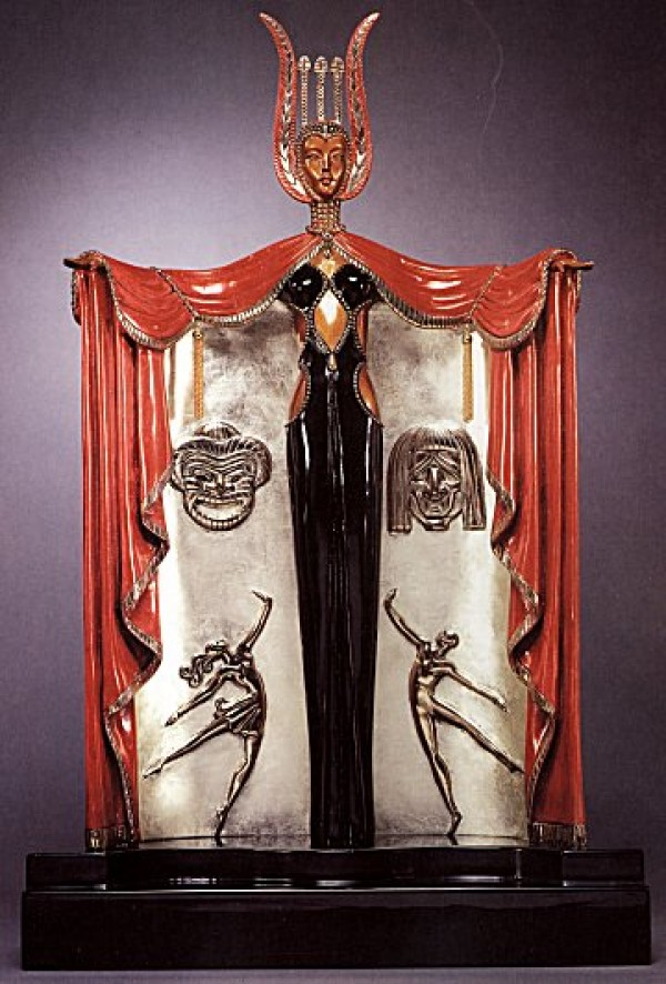"""Broadways In Fashion"" Bronze Sculpture by Erte"