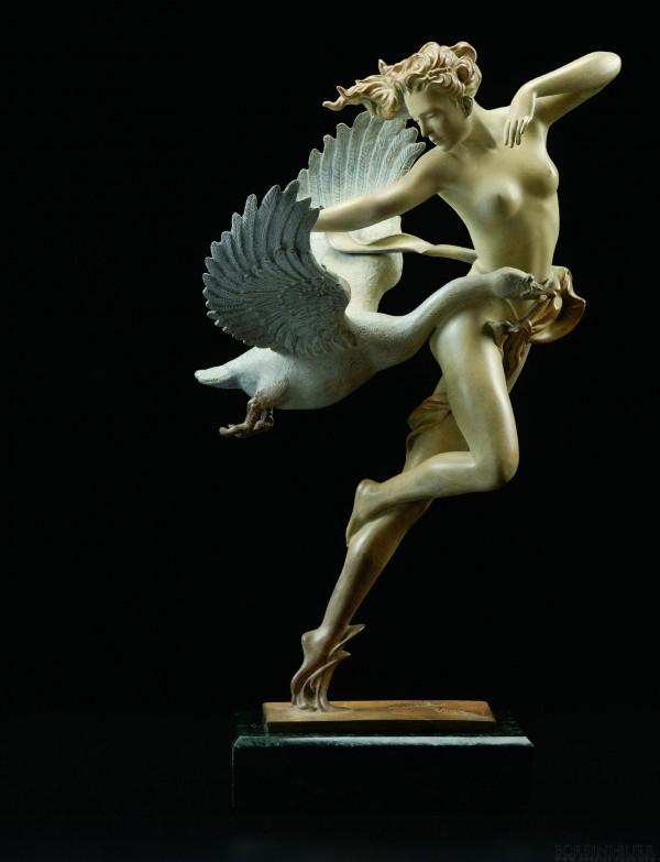 """Night Flight"" Limited Edition Bronze Sculpture by Michael Parkes"