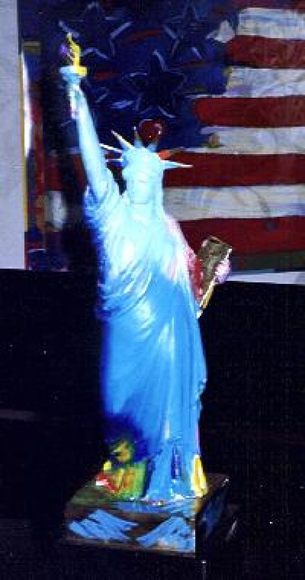 """Statue of Liberty"" Bronze Sculpture by Peter Max Wanted by Diva Art Group"