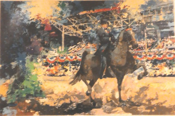 """""""Grandstand"""" Serigraph from American Horse Show Suite by Wayland Moore"""